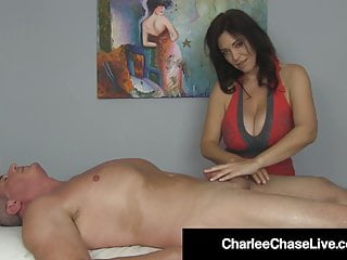 Brunette Big Tits Big Ass video: Happy Ending With Busty Milf Charlee Chase & Handjob Heaven!