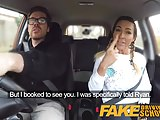 Fake Driving School Busty hot gym bunny squats on cock