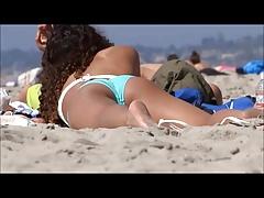 Sexy schöner Arsch am Strand