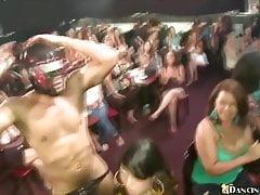 Bláznivé dívky jsou připraveny nasát striptérkový kohout
