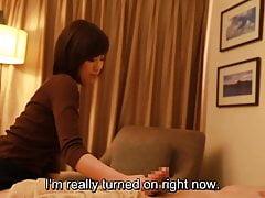 Sottotitolato giapponese handjob massaggio hotel porta al sesso in HD