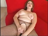 Hot Fat Chubby Teen riding her black dildo-2
