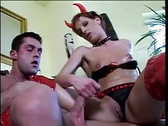 Devil Hag Handjob for Fit Stud