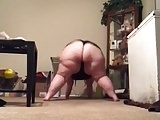 White SSBBW Clappin Ass In Slow Motion