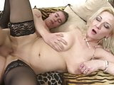 Naughty busty mature mother fucks lucky son