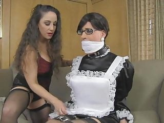 Big Tits Shemale Domination Shemale vid: Sissymaid cleaning part 1