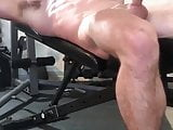Huge cock lifting weights