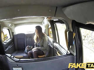 Pov Car Taxi video: Fake Taxi Girlfriend takes cock one last time in lingerie
