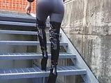 Dana in extremly sexy leggins and overknee