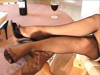 British Foot Fetish Blonde video: Isobel the Lazy Maid in Fully Fashioned Nylons