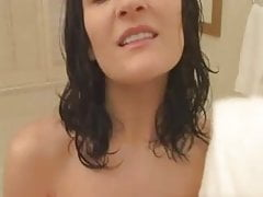 Hot Mom in a bathroom