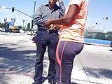 Candid street ebony milf 2