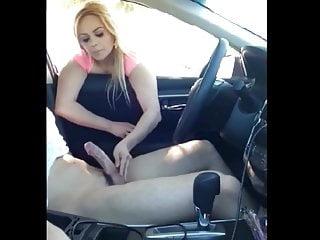 Public Nudity Teen Big Cock video: Random Blonde Babe Made Taxi Driver Cum in His Car