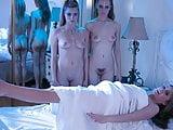Aliens taste human pussy