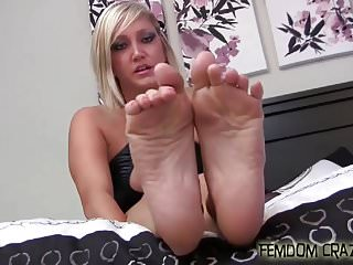Bdsm Femdom xxx: Clean my shoes with your dirty little tongue