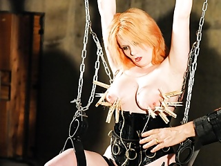 Bdsm Big Tits Milf video: Struggling Whore Gets Suspended and Humiliated