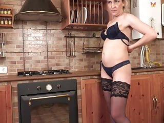 Stockings Threesome Milf video: Mother and small tit daughter fucks lucky guy