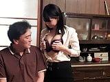 Japanese cheating housewife Mikan Kururugi takes it from beh