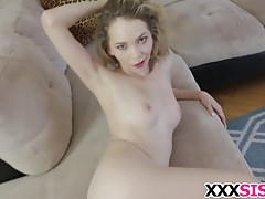 Stepbrother fucks cute stepsis Angel Smalls