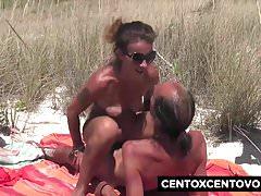 GangBang na plaży! Ten tyłek Valentina CentoXCento
