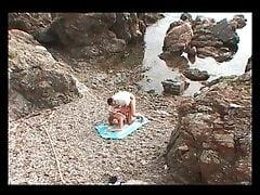 maman aime bien cette petite plage