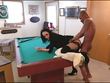 Mistress Lourdes fucked over pool table by BBC lover