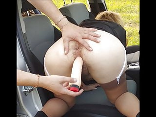 I fucking my hairy wife in the car