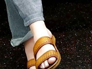 Foot Fetish Teen Babe video: Feet on the train hippy need girl