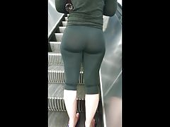 PAWG FROM GYM LEGGING TENDANT BULLE ASS