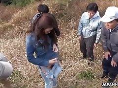 Japanese Farmer Girl, Maki Hojo Had Group Sex Outdoors, Unce