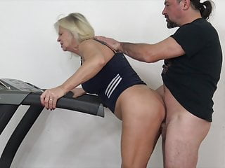 Blonde Granny Cumshot video: Ultra hot granny is seducing her lustful stepson