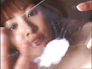 Japanese Facials xxx: Hina Uemura - classic blowbang and gokkun