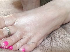 Luv4feet - Wifes Pink and Black Footjob PT1