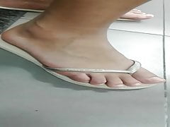 a Grandmother's and granddaughter's feet