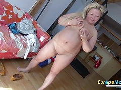 EuropeMaturE Busty Zralý Nina Striptease Showoff