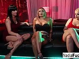 3 Pornstars decide to fuck each other at a night club