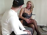 GERMAN MILF HOOKER HELP YOUNG BOY WITH FIRST FUCK
