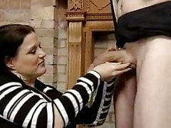 Busty Milf gets a huge cock