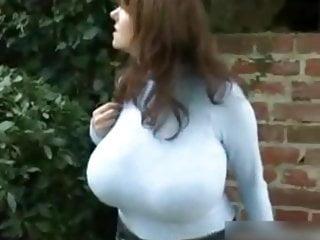 Tits Big Tits video: Milena walking in blue