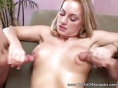 Classy Double Handjob Blonde MILF