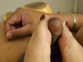 Foot Fetish Hd Videos video: INDIAN WIFE FOOTJOB