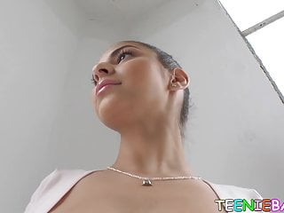 Athletic young beauty gives BJ upside down before pounding
