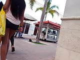 Candid voyeur light skin ebony and spandex shorts hot