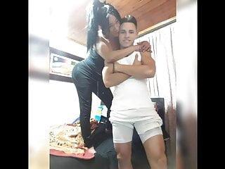 Latin Shemale Big Tits Shemale Shemale Fucks Guy Shemale video: Barrio Queen Sharon