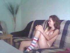 Teen matura scopa sul divano