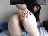 Horny hairy slut spreads her legs