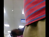 Girl watching my bulge in store