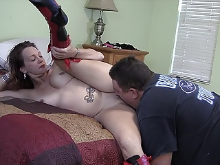 Slutty milf sucks and fucks a fat guy in homemade video