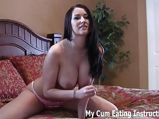 Femdom Blowjob Cumshot video: I have been waiting to make you cum all day CEI