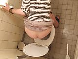 Peeing MILF Toilet Voyeur 8 - HD - Over Stall - Brunette